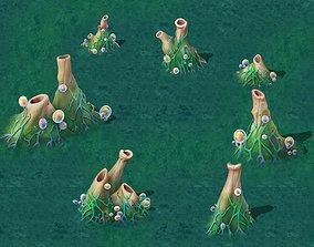 Cartoon Edition - Surface Earth Fountain 01 3D