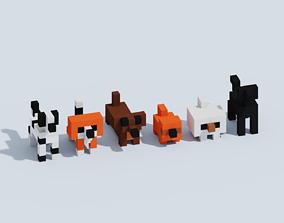 3D asset Voxel Dogs