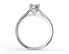 3D printable model Engagement ring 5 mm diamond