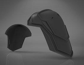 3D printable model Black Widow Black Shoulder Armor