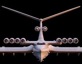 airplane Km caspian sea monster 3D model