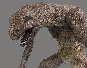 3D asset Lizard Man