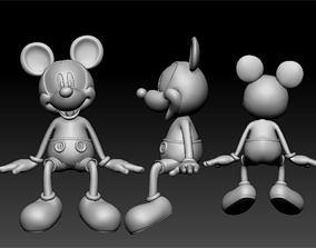 3D printable model mickey seated