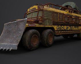 3D model Post Apocalyptic School Bus