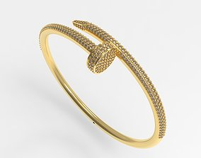 3D printable model nail Bracelet 65