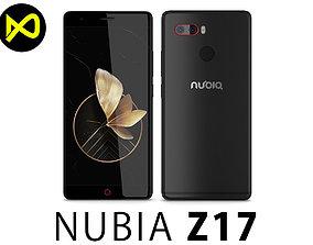 3D ZTE Nubia Z17 Black