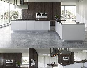 3D model Kitchen BVA Mood Legno Rovere rovere