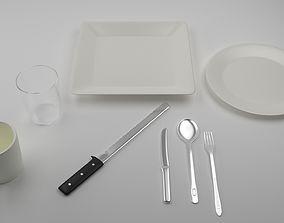 3D Dishes Set