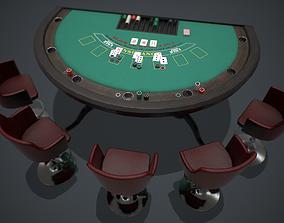 3D model Blackjack table PBR