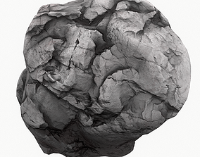 3D model VR / AR ready universe Meteor Asteroid Rock 4K
