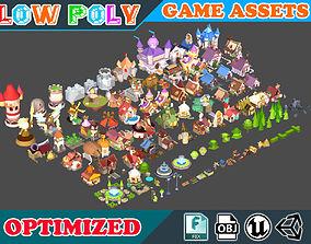 3D model Low poly Cartoon Kingdom KIT - Game Assets