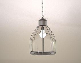Modern Metalic chandelier 3D model