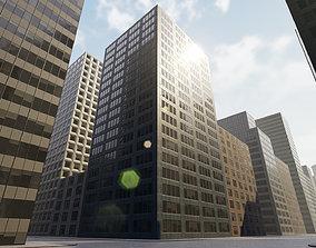 Backgorund Buildings 3D asset