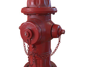 Hydrant 3D asset low-poly