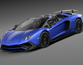 Lamborghini Aventador LP750-4 SV Roadster 3D model