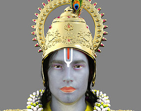 3D Lord Krishna Realistic Model