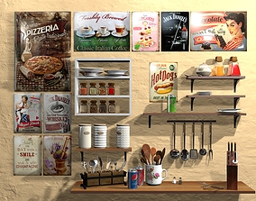 3D model PBR Kitchen Accessories