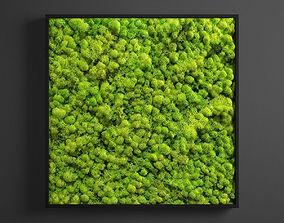 3D model panel moss square