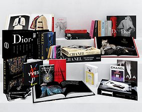 3D model Luxury Designer Fashion and Style Book Collection