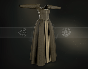 3D model Medieval Dress Style 5 Brown