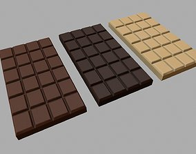 Chocolate Bars 3D model game-ready
