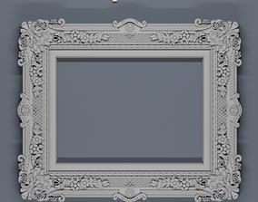 model classical 3d carved frame