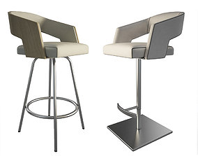 Jolly Leather Beige Stools 2 3D