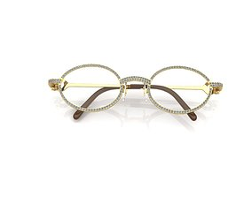 vintage diamond eyeglass frames 3D print model