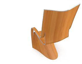 modern chair 3D chrome