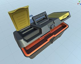 3D model rigged toolbox