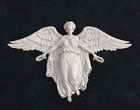 gold 3D print model Angel