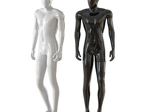 3D model Faceless male mannequin 32