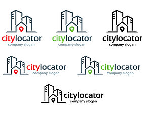 3D printable model City Locator Logo Template