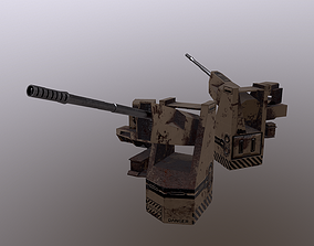3D asset TURRET 04