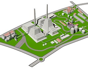 3D model HEAT POWER PLANT