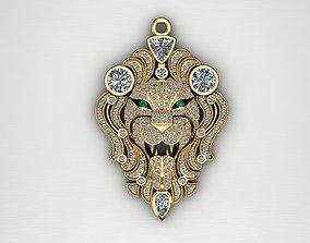 Pendant Lion 3D printable model