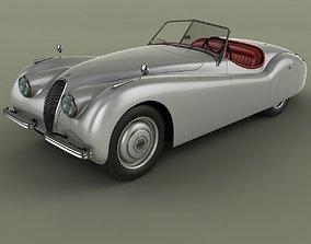 3D Jaguar XK 120 Roadster 1948