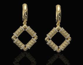 3D print model Textured poles Earrings sterling