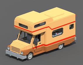 3D asset Voxel Motorhome