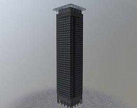 3D model Amsterdam Naddeo Skyscraper