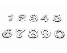 3D House Address Numbers from 0 to 9 COLLECTION