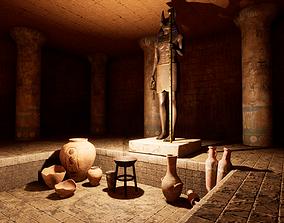 3D asset Modular Egypt Tomb