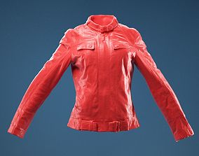 Leather Jacket Closed 3D