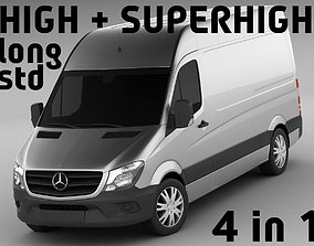3D model Mercedes Sprinter 2014 High and Superhigh