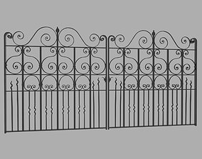 3D large House gate