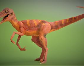 3D model rigged Velociraptor dinosaur