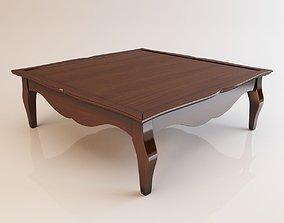 Square shaped table 3D model