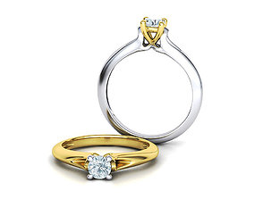 3D print model Engagement Solitaire ring Own design 1