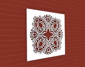 Mandala lasercut 3D