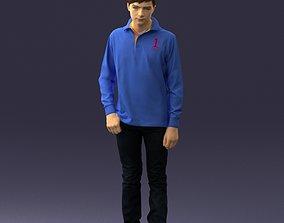 Boy in blue sweatshirt 0128 3D print model